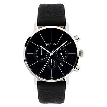 Gigandet G32 - 002 - Men's watch, black leather strap