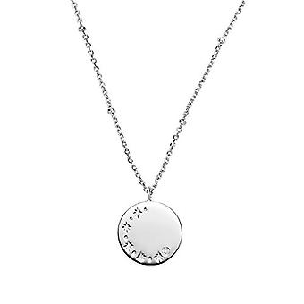 """OELANI Necklace with women's pendant in silver 925 with zircons, """"Stars&Moon""""(1"""