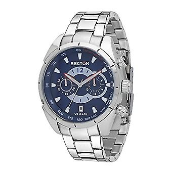 Sector Men's Quartz Chronograph Clock with Stainless Steel Strap R3273794003