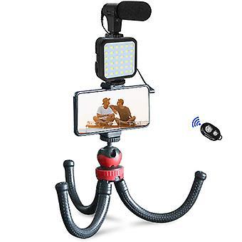 Kit de video vlogging con patas de trípode de pulpo ajustables