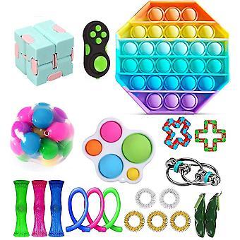 Aisti fidget lelut asettaa kupla pop stressiä helpotus lapsille aikuiset Z390