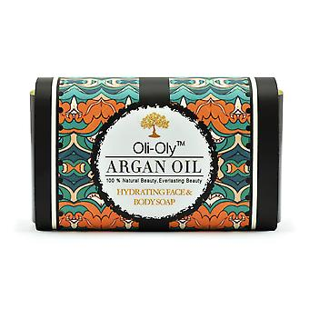 Oli-Oly Hydrating Face & Body Soap with Argan Oil, 50g, Scented