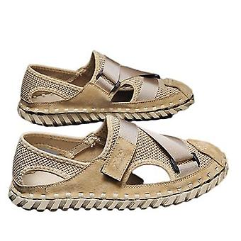 Sandals Hollow And Breathable Men's Baotou Ins Casual Beach Shoes