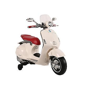 Vespa kinder scooter elektrisch bestuurbaar – Wit