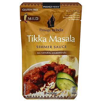 Passage Foods Sauce Smmr Tikka Masala, sag af 6 X 7 Oz