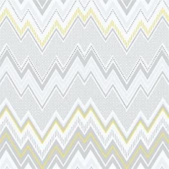 Tempo ZigZag Yellow Wallpaper