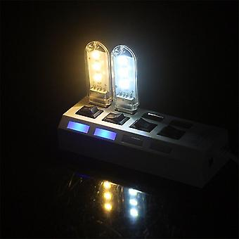 Kannettava avainnippu Mini Usb 3 Leds Yövalo 5730 Smd Luku Led Lamp Book