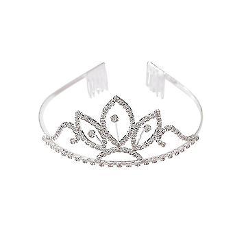 Pente de cabelo da coroa de noiva deixa cocar casamento Princesa Diadema Noiva Joias de Cabelo
