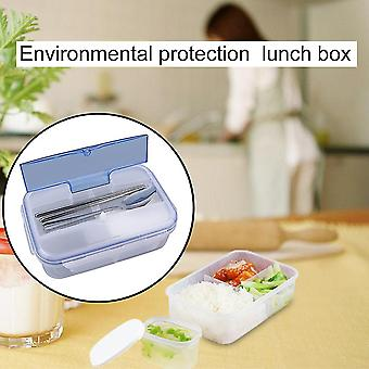 Portable Lunch Box With Soup Bowl Chopsticks Spoon Food Containers 1000ml