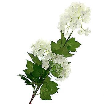 78cm hvit kunst snøball blomsterstamme for blomsterdekoratør håndverk
