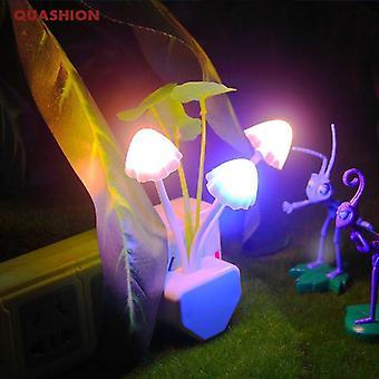 Novelty night light plug induction dream mushroom fungus luminaria lamp  night lights
