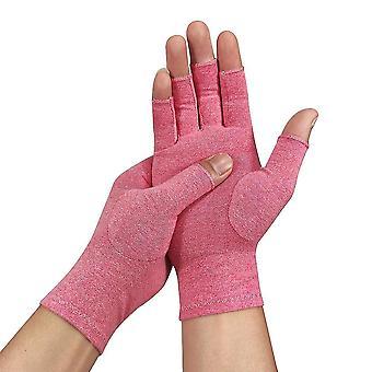 L 1 paar unisex artritis katoenen handschoenen pijnverlichting halve vinger handschoenen lc146