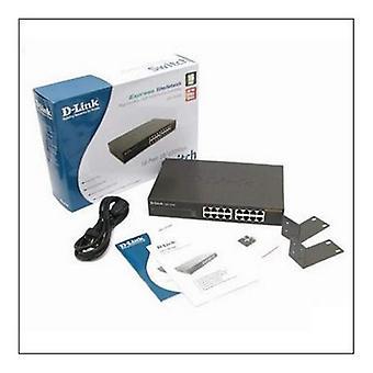 Switch D-Link DES - 1016D 16 p 10 / 100 Mbps negro