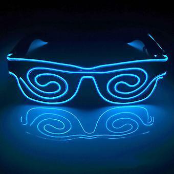 Led 6 Colors Visor Glasses El Wire Glasses Light Up Eyeglasses For Cosplay Rave Festivals Halloween Bars Clubs Parties