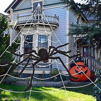 Halloween Spinnennetz und Riesenspinnendekorationen, Halloween Partys Haunted House Decor