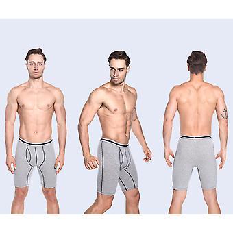 Men's Underwear Cotton Boxer Briefs Plus Lengthening Fitness Underwear