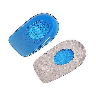 elastisk blå gel hæl pute støt absorpsjon for å lindre hælsmerter ny innersåle halv størrelse pute menns og kvinners størrelse