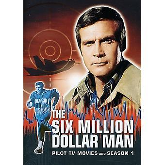 The Six Million Dollar Man: Pilot, TV Movies and Season 1 [6 Discs] [DVD] USA import