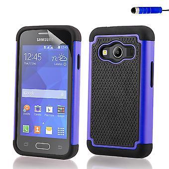 Shock proof case cover + stylus for Samsung Galaxy Ace 4 (SM-G357FZ) - Deep Blue (Discontinou)