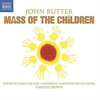 J. rutter - John Rutter: Masse barn [DVD] USA import
