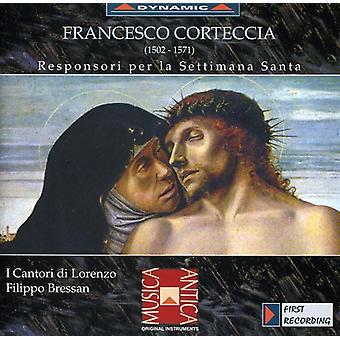 Corteccia - Francesco Corteccia: Responsori Per La Settimana Santa [CD] USA import