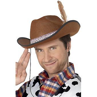 Cappello con la piuma di feltro Dallas cappello marrone