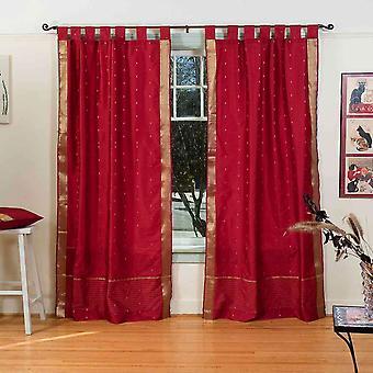 Scheda Top Sari pura tenda di Maroon / drappo / pannello - coppia