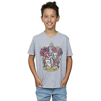 Harry Potter jungen Gryffindor Distressed Crest T-Shirt