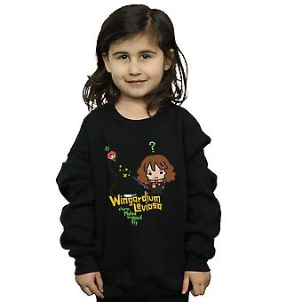 Harry Potter Girls Hermione Granger Wingardium Leviosa Junior Sweatshirt