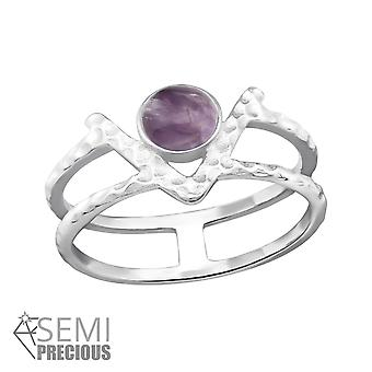 Double Line - 925 Sterling Silver Jewelled Rings - W32351X