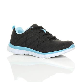 Ajvani womens lace up comfort memory foam sportschool trainers sneakers sport plimsolls