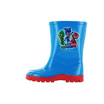Boys P J Masks Wellington Boots Blue UK Sizes 5 -10