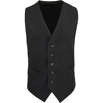 Premier Mens Lined Polycotton Hospitality Formal Waistcoat