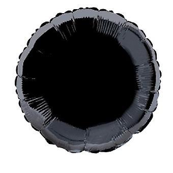 Folie ballon ronde effen Metallic zwart
