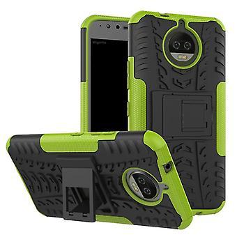Pedaço de caso 2 híbrido verde ao ar livre de SWL para Motorola Moto G5S bolsa capa case