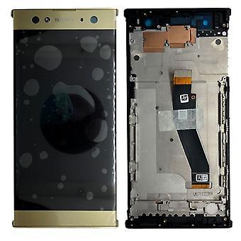 Sony Display LCD Komplett Einheit mit Rahmen für Xperia XA2 Ultra Gold Ersatzteil