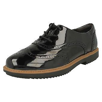 Ladies Clarks Lace Up Brogue Style Shoes Raisie Hilde