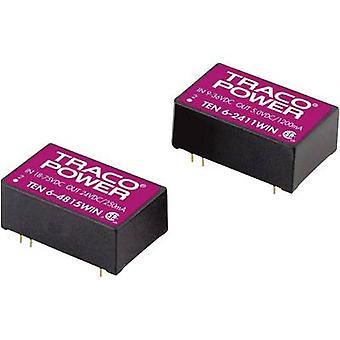 TracoPower TEN 6-4822WIN DC/DC convertitore (stampa) 48 V DC 12 V DC, -12 V DC 250 mA 6 W No. uscite: 2 x