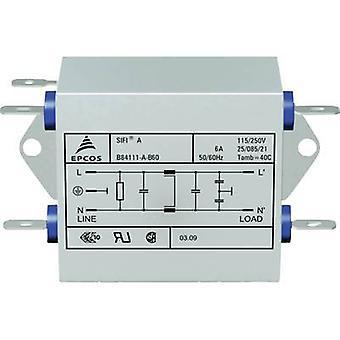 TDK B84111AB60 EMI suodatin palon esto 250 V AC 6 A 1,8 mH (p x L x k) 45 x 76,5 x 28,6 mm 1 kpl (s)