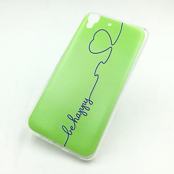 Eloisa hylsy Huawei G Pelaa Mini olla onnellinen vihreä laukku kansi + 1 x säiliö lasi