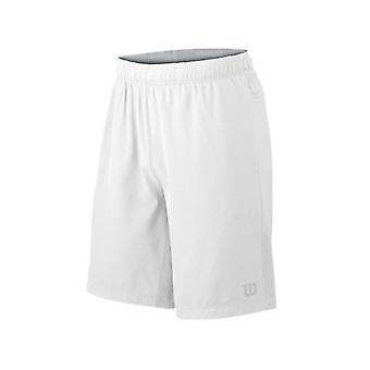 "Wilson hybrid stretch woven knit 9 ""shorts white mens WRA730801"