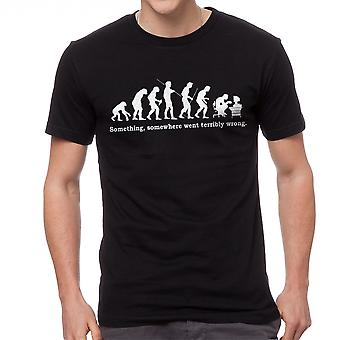 Something Somewhere Went Terribly Wrong Graphic Men's Black T-shirt