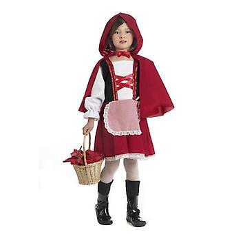 Petites filles de chaperon rouge costume costume enfant fée