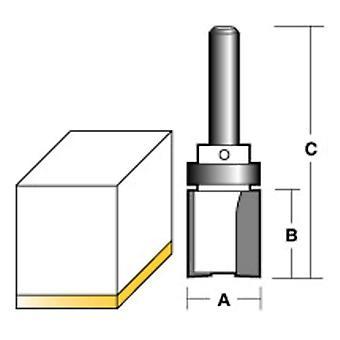 Carbitool Inverted Flush Trim Router Bit W/Bearing 1/2