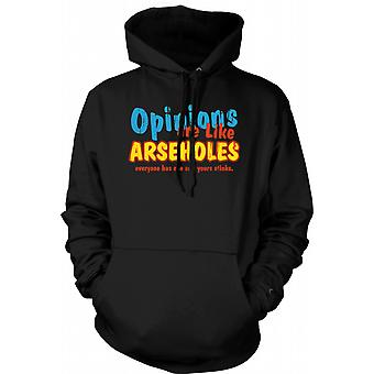 Womens Hoodie - Opinions Are Like Arseholes, Everyone Has One And Yours Stinks