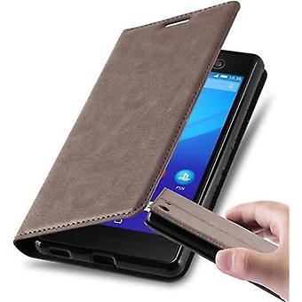 Cadorabo Funda para Sony Xperia M5 Funda de Funda - Funda de teléfono con cierre magnético, función de soporte y compartimiento de la caja de la tarjeta - caso de la caja de la caja caso de la caja del libro plegable estilo plegable del libro