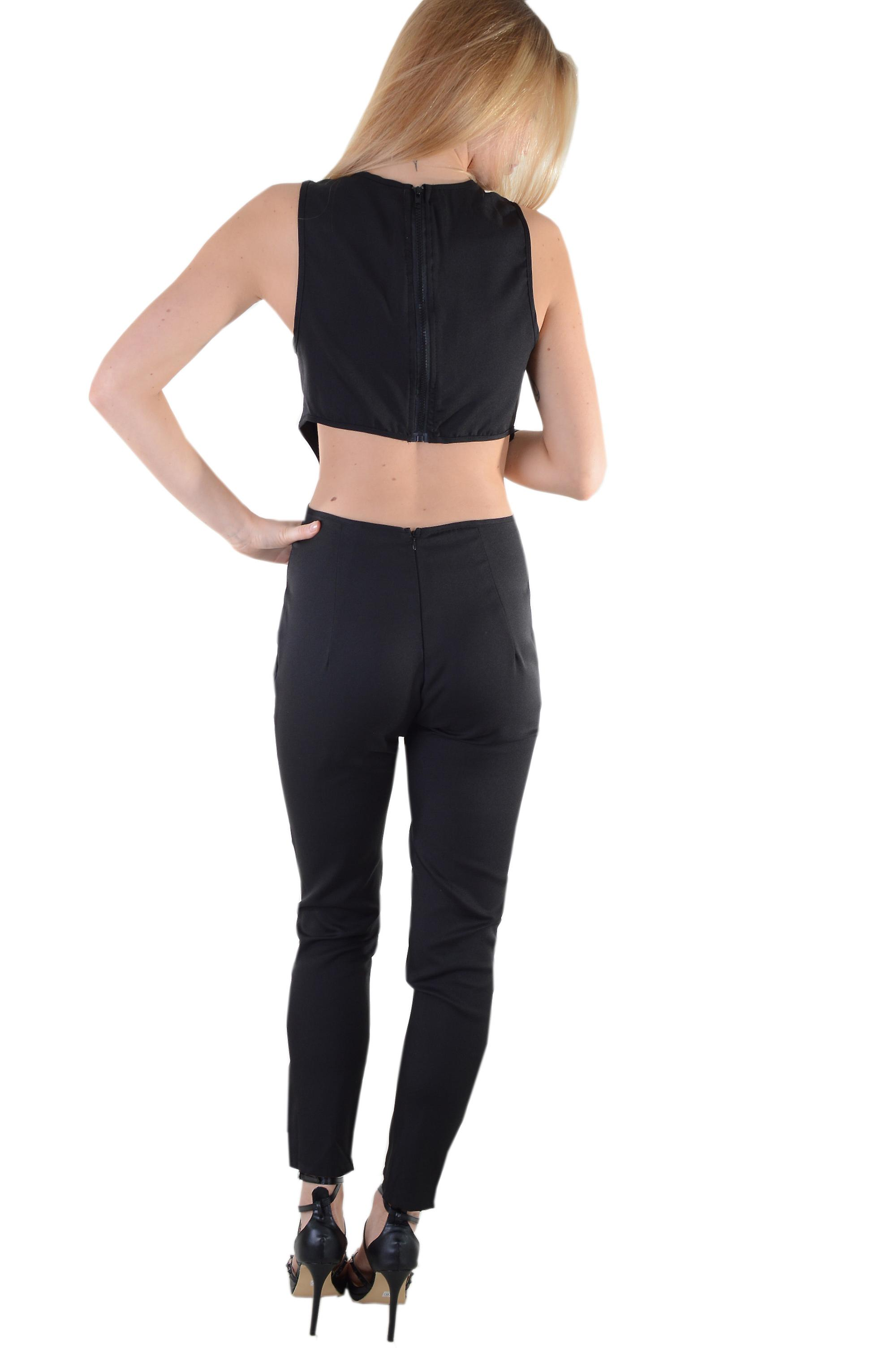 LMS Black Jumpsuit Featuring Cut Out Sides And Peak-A-Boo Chest