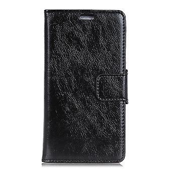 Samsung Galaxy A9 (2018) Brieftasche Fall strukturiert Split-Schwarz