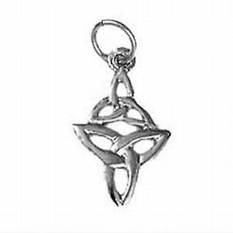 Silver 16x11mm double Celtic Trinity knot Pendant