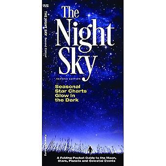 De nachtelijke hemel: Een opvouwbare Pocket Guide naar de maan, de sterren, de planeten & de hemelse gebeurtenissen